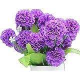 DAYAN 2 mazzo piante di ortensia Fiori Artificiali Fioritura in Seta Bouquet Decorazione per Cerimonia Matrimonio Party Casa colore viola