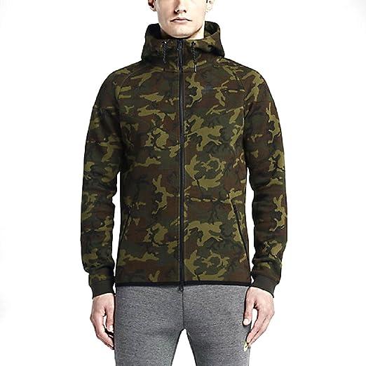 Nike Mens' Tech Fleece Windrunner Camo Hoodie Size Medium at