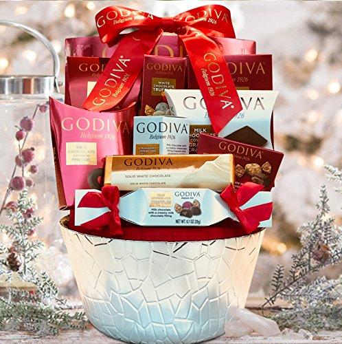 LA Signature Godiva Chocolatier Gift Basket - Brown (Red) (Best Gift Baskets 2017)