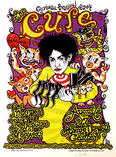 The Cure Poster w/Interpol, The Rapture & Mogwai 2004 Concert