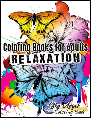 Cheap  Coloring Books for Adults Relaxation: Butterflies and Flowers Designs: Butterfly Garden Coloring..