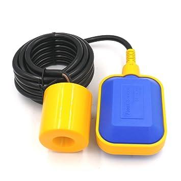 Baomain 4 m cable controlador de nivel de agua interruptor de flotador para tanque bomba: Amazon.es: Bricolaje y herramientas