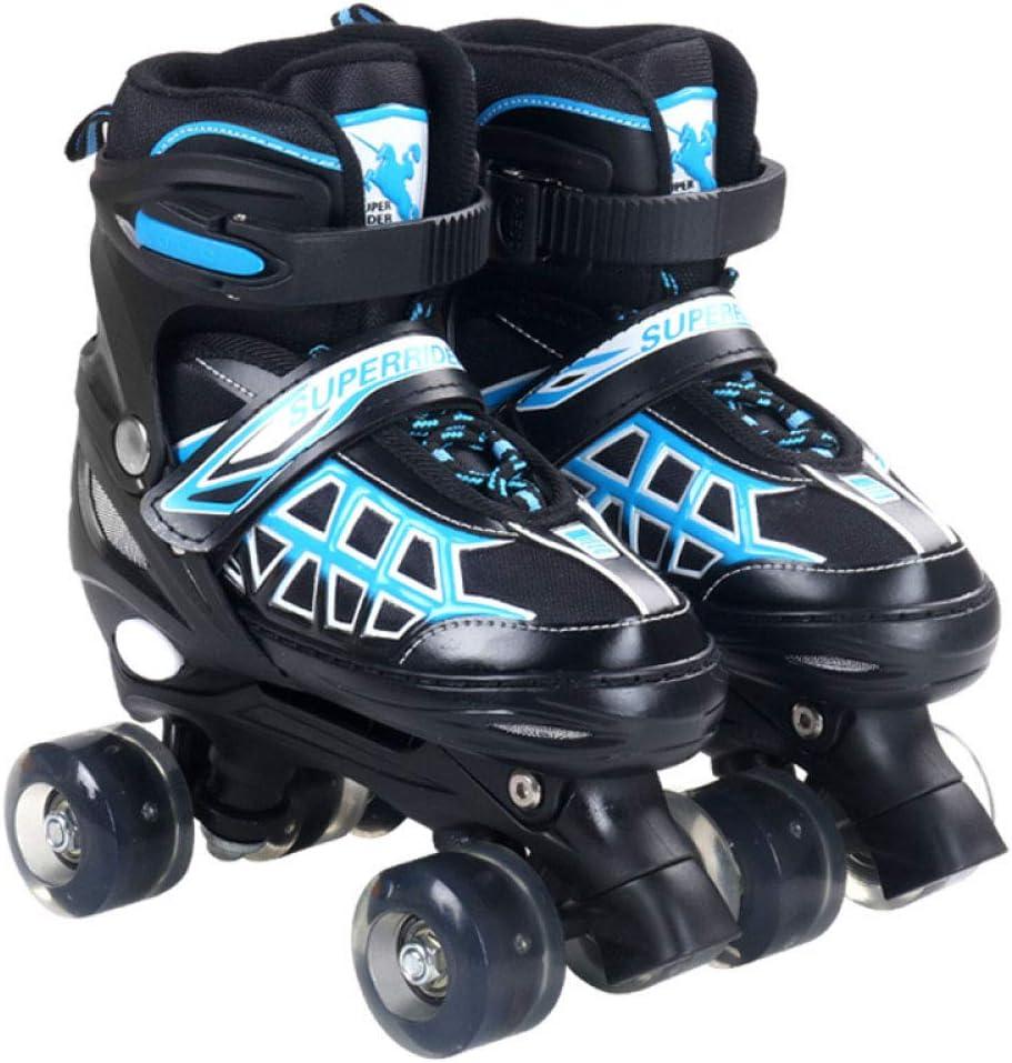 TSMDHHローラースケート、調整可能なローラースケート、2色、子供、大人の男性と女性に適しています 青 13 inches - 14 inches