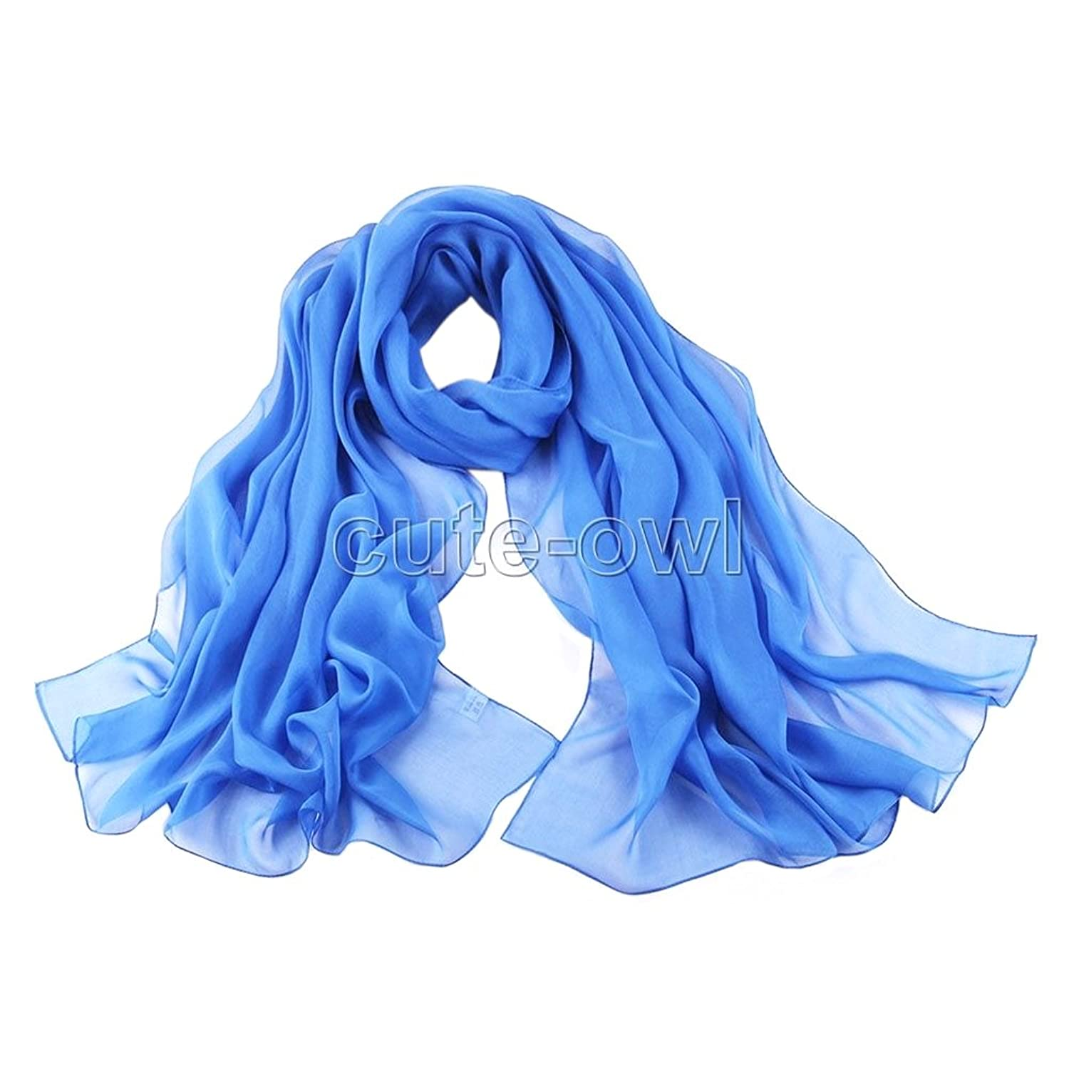 New Colorful Long Soft Women Fashion Chiffon Scarf Wrap Shawl Stole Scarves Gift #9