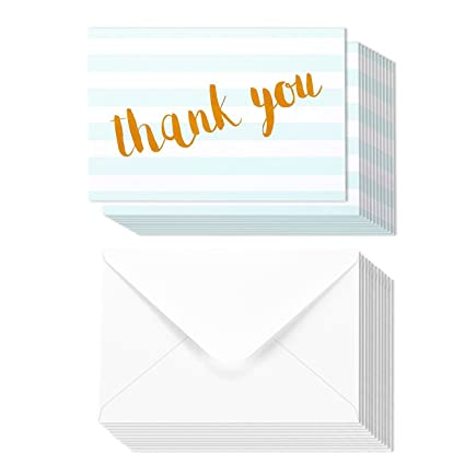 Amazon Com Thank You Cards 12 Count Thank You Notes White And