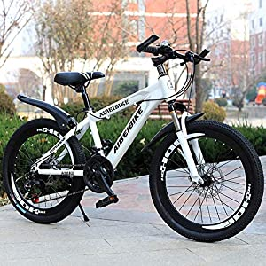 61kgJLBsjLL. SS300 XHJZ Adulto Bambino della Bici di Montagna della Bicicletta Doppio Freno a Disco in Acciaio al Carbonio Bike 21 velocità…