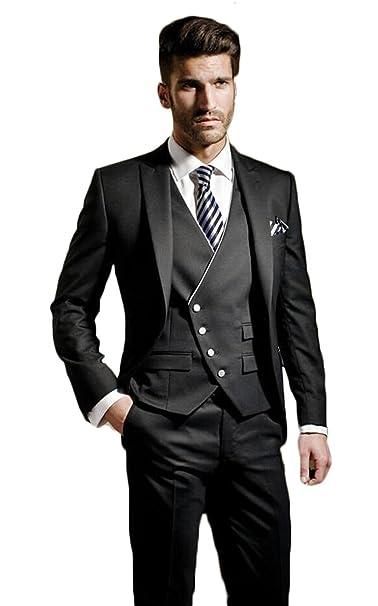 Amazon.com: Lilis para hombre moda Vintage un botón traje 3 ...