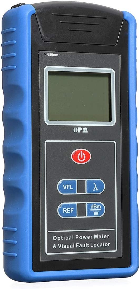 BESISOON La Alta precisión de Mano láser telémetro 650 NM Detector de LCD Fuente Adaptador Medidor de Luz Roja FC SC 0.01dbm óptica Potencia (Color : Azul, tamaño : A)