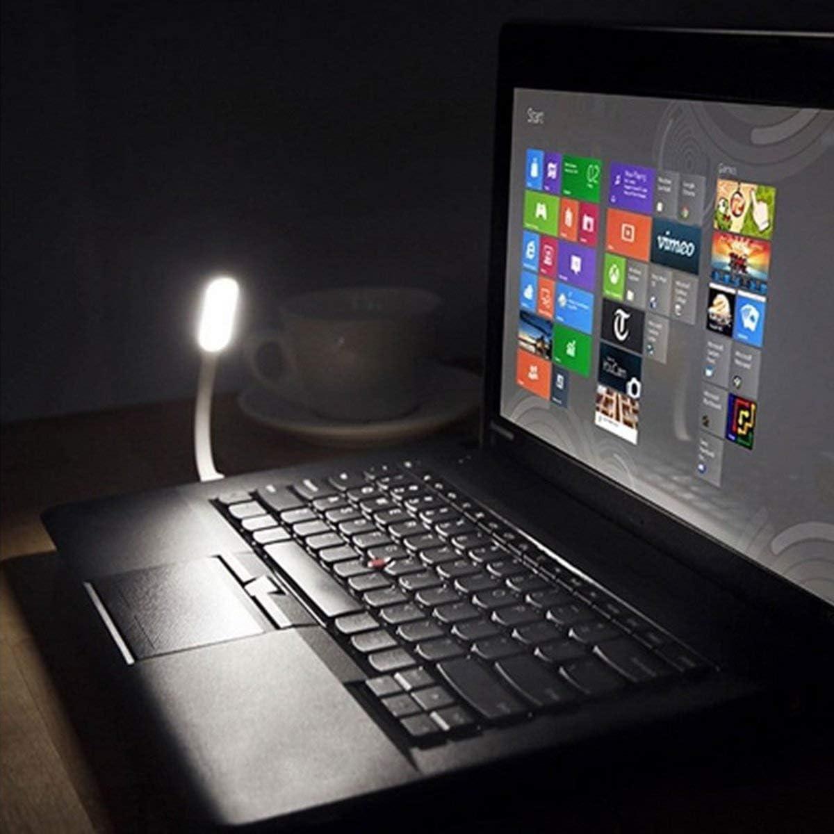 Gugutogo Mini USB LED Light Lamp 180 Degree Adjustable Portable Flexible for powerbank PC Laptop Notebook Computer Night Working