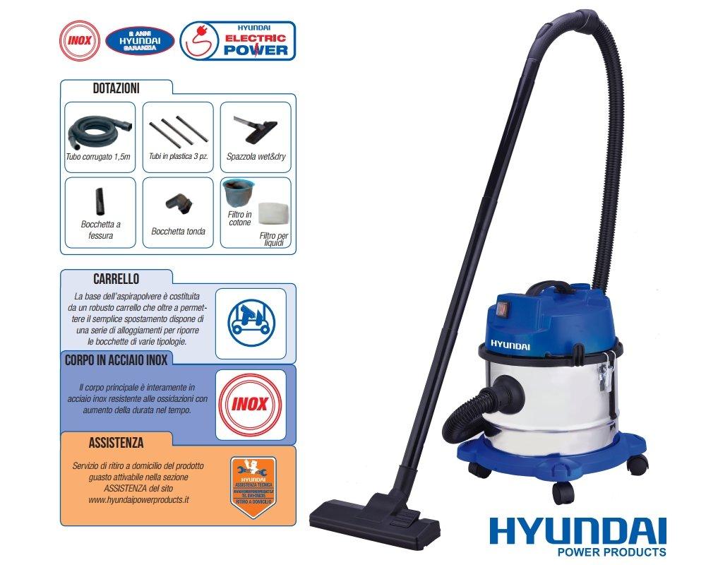Aspirador/aspiradora/ASPIRATUTTO sólidos y líquidos 1000 W 15lt ...