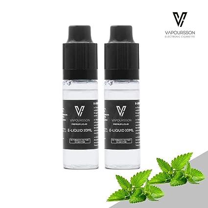 VAPOURSSON 2 X 10ml E Líquido| Menta | 2 botellas de la Nueva Fórmula Para Crear un Sabor Fuerte con Ingredientes de Alto Nivel de Calidad| Hecho para ...