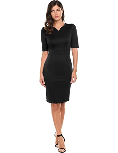 HOTOUCH Women Notch Neck Half ...