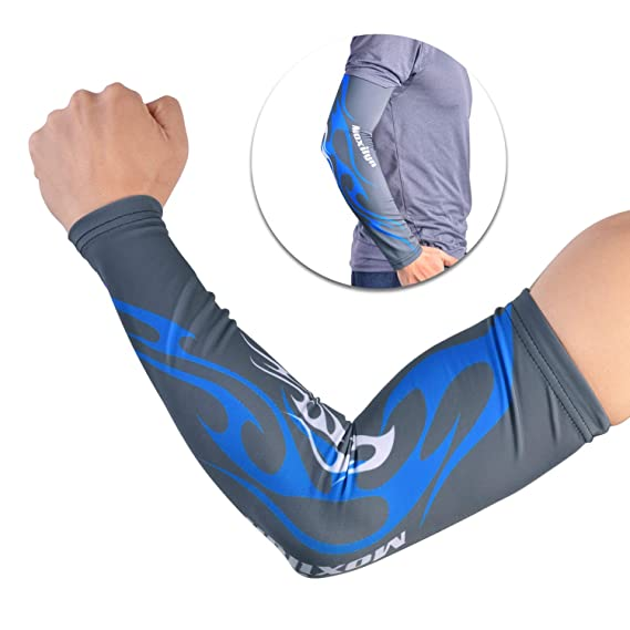 f33e673ed9 LEAPTECH Arm Sleeves, UV Sun Protection Compression Arm Sleeves Cover for  Cycling, Running,