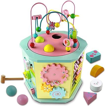 Juguetes Madera Bebes Cubo Actividades Bebe- 9 in 1 Cubo Centro de ...