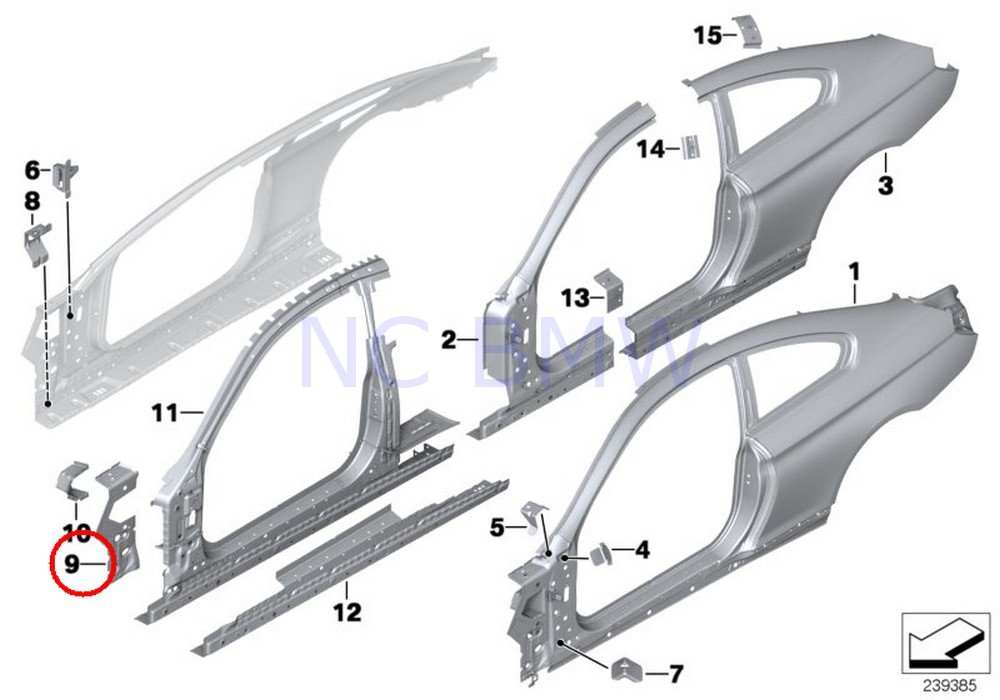 BMW Genuine Right Side Frame Joint