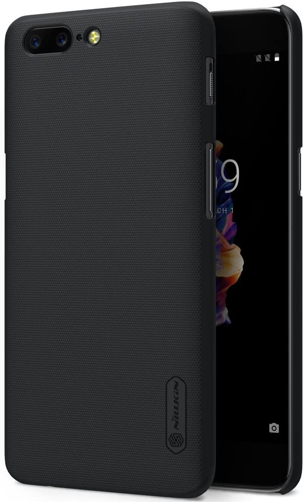 SMTR OnePlus 5 Funda, Cubierta Slim Armor Funda +1 film Protector de pantalla para OnePlus 5 ,(Slim Fit Series - Negro)