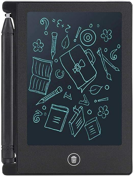 子供のライティングノートのToDoリストを書くためのライティングボード、手書きボード、超薄型の算数と絵画のスキル(black)