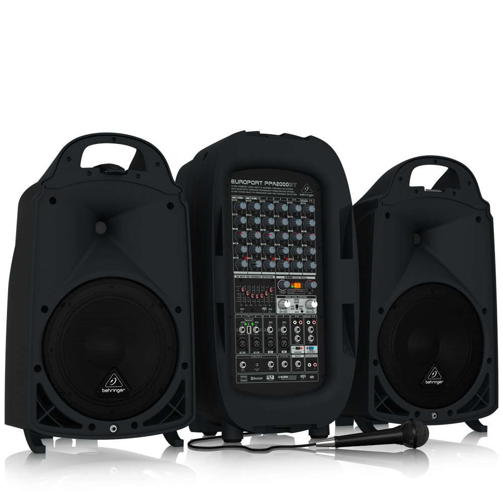 BEHRINGER 8 PPA2000BT Ultra-Compact 2000-Watt 8-Channel Portable Pa System with Bluetooth Wireless Technology Black