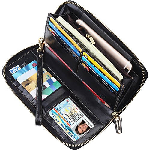 Zip Around Long Wallet (Black) - 6