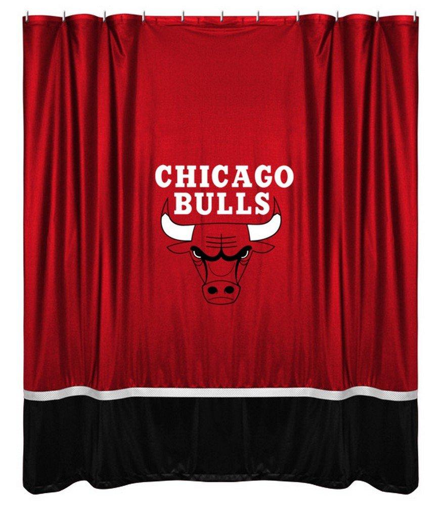 Amazon.com: NBA Shower Curtain NBA Team: Chicago Bulls: Home & Kitchen