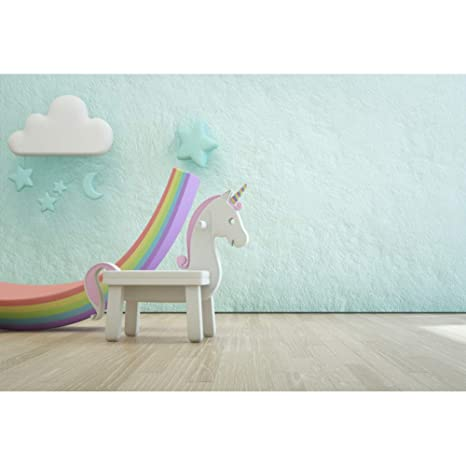 Cassisy 2,2x1,5m Vinilo Unicornio Fondo de Fotografia Cumpleaños del bebé Decoración de
