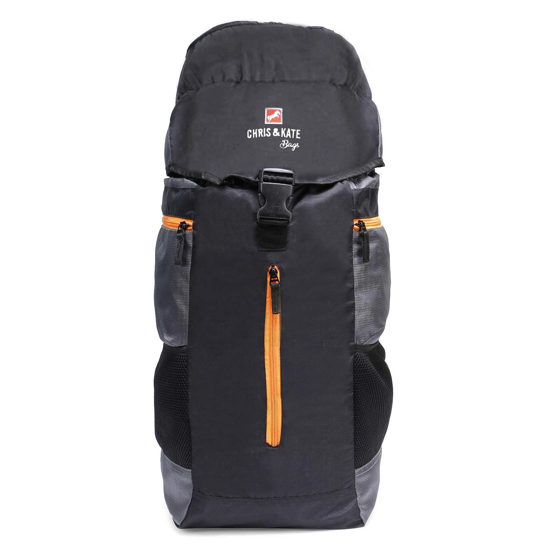 Chris & Kate Black Travel Rucksack Backpack-Trekking Backpacks-Camping Daypack Bag