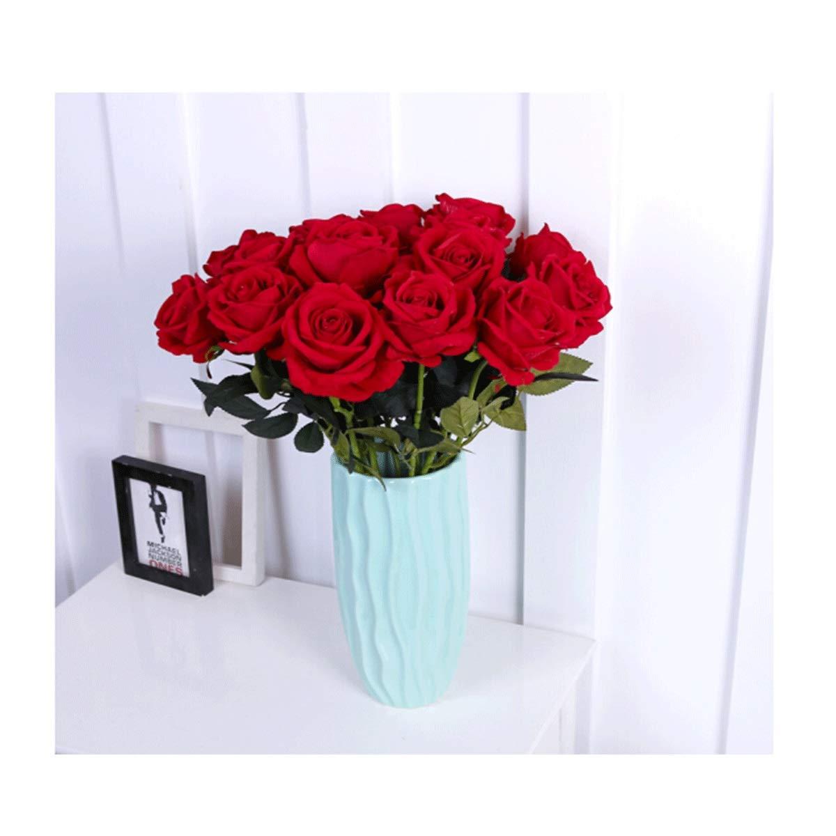 造花セット(花瓶付き)、ローズ/着陸偽花/ドライフラワー/人工ローズ - 居間の装飾/家の装飾/結婚披露宴に使用できます (Color : Flower+vase B) B07SMW532S Flower+vase B