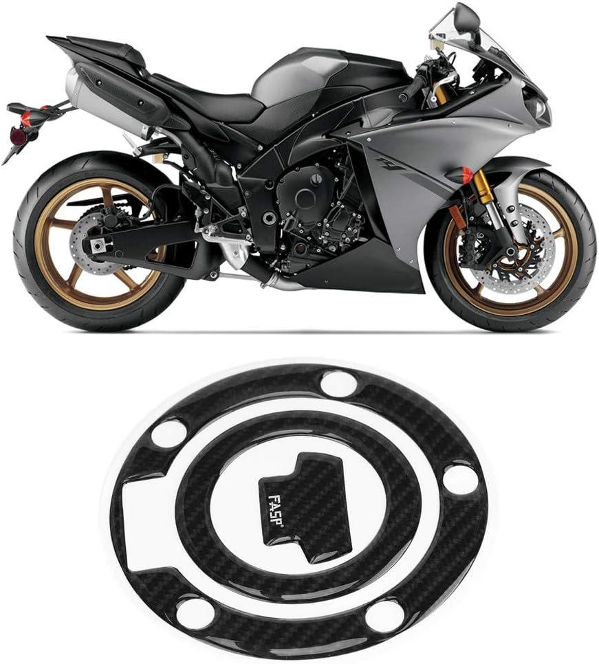 Qiilu Kohlefaser Motorrad Tankdeckel Pad Abdeckung Für Yzf R1 R6 Motorrad Tank Aufkleber Kohlefaser Abdeckung Gel Schwarz Auto