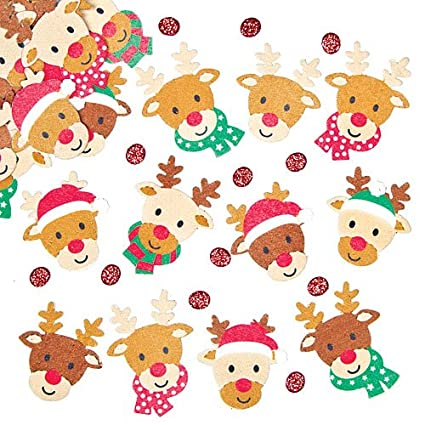 Baker Ross Reindeer Felt Stickers For Children To Decorate Christmas Cards Crafts And Collage Pack