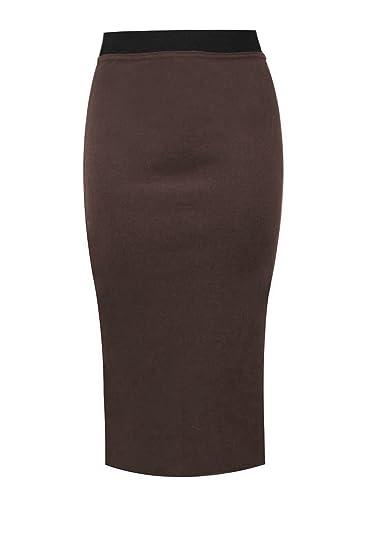 ZEE FASHION - Falda - para Mujer Marrón marrón 52: Amazon.es: Ropa ...