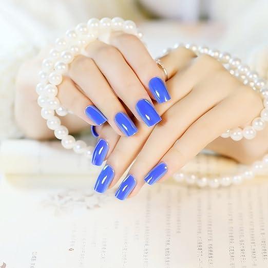 jovono falsas uñas consejos para uñas postizas completa (redonda clavos consejos para las mujeres y las niñas: Amazon.es: Belleza