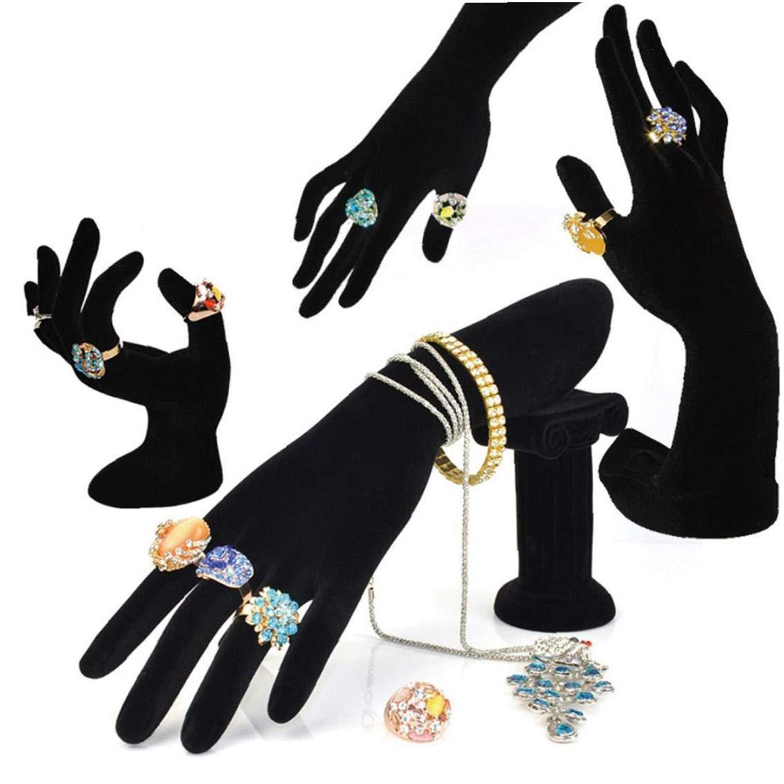 Bontand Bracelet Bijoux Pr/ésentoir Porte-Main en Velours Bague Pr/ésentoir Rack pour Les Bijoux Organisation Accueil