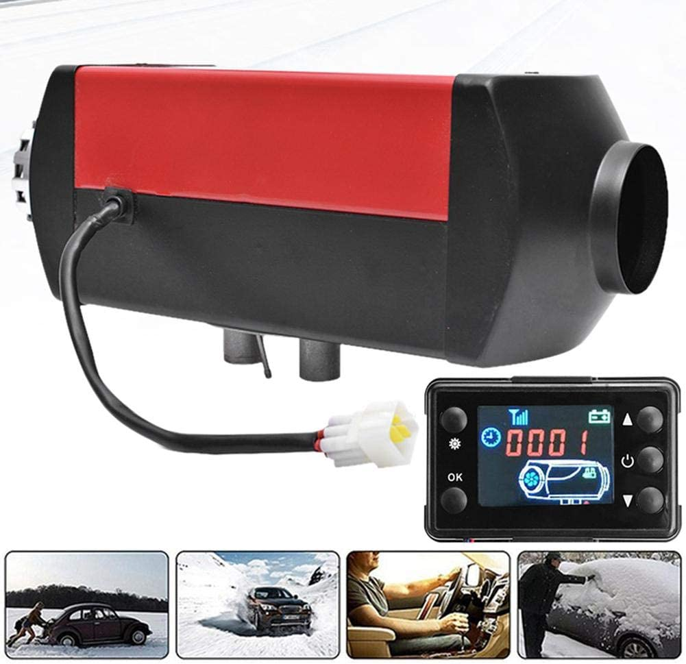 Ship 24V 5KW Parking air Diesel Fuel Heater with LCD Display and Remote Control for Truck Camping Red Bus car