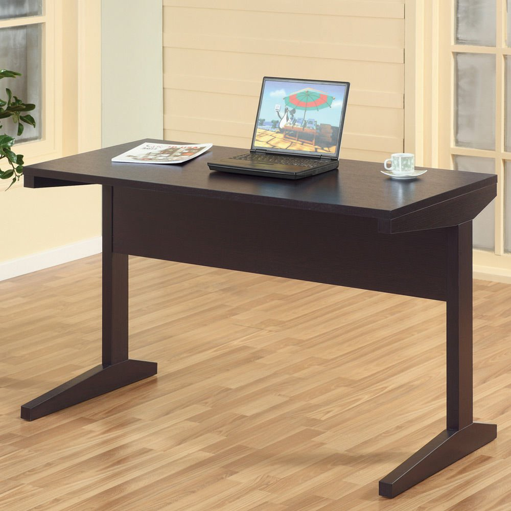 1PerfectChoice Simple Style Home Office Writing Computer Work Study Desk Stand Wood Espresso