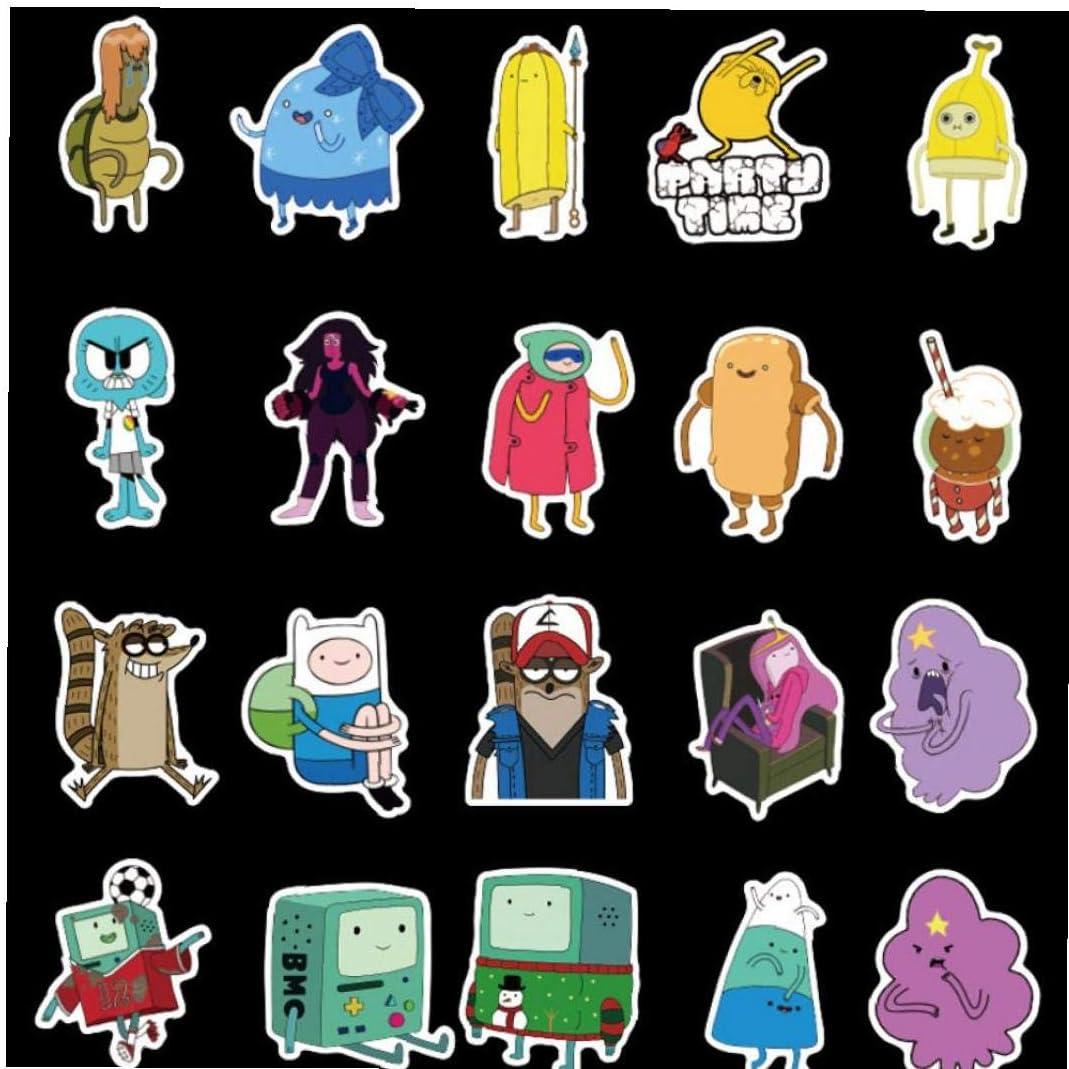 Adventure Time 50pcs Anime Stickers Pack Pour Les Enfants Sur Ordinateur Portable R/éfrig/érateur T/él/éphone Planche /À Roulettes Voyage Valise Autocollant