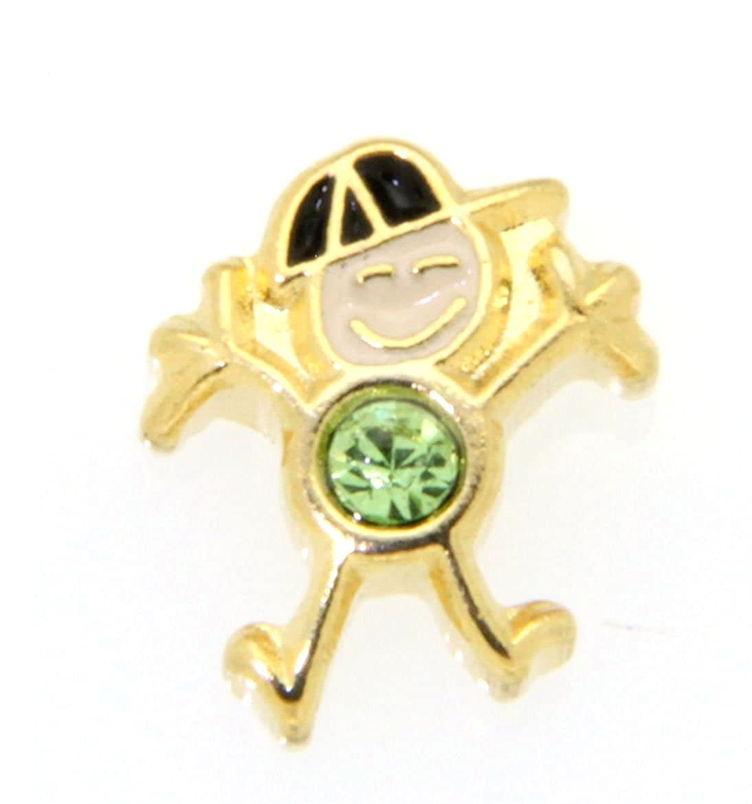 August Birth Month Boy Charm for Floating Lockets Clearly Charming 010-013-010-0152