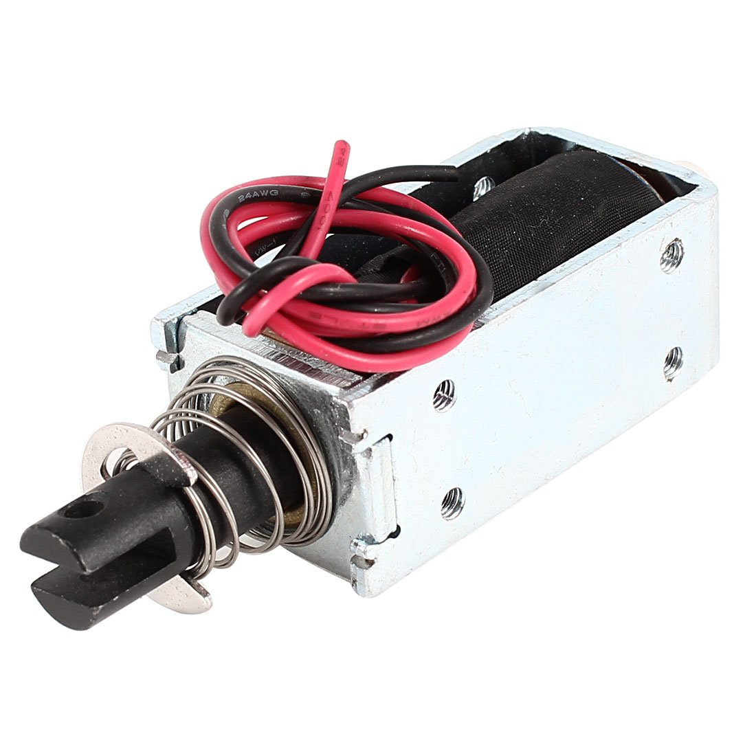 uxcell DC 48V 10mm 400gf Force Push Pull Type Tubular Solenoid Electromagnet a14052300ux1079