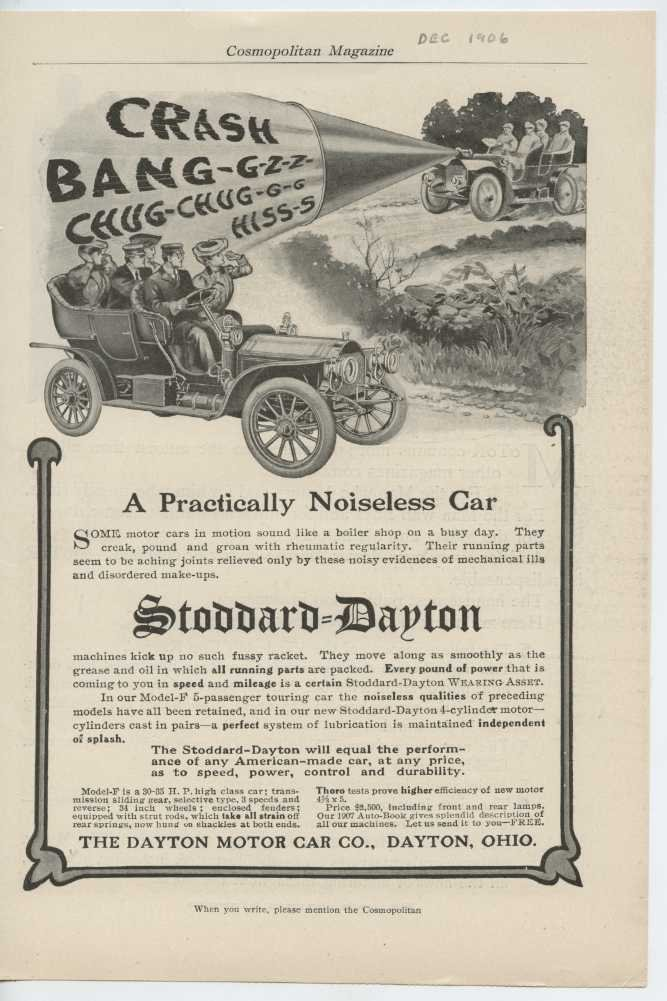 Amazon com: 1907 Stoddard Dayton Model F Dayton OH Auto Ad Motor