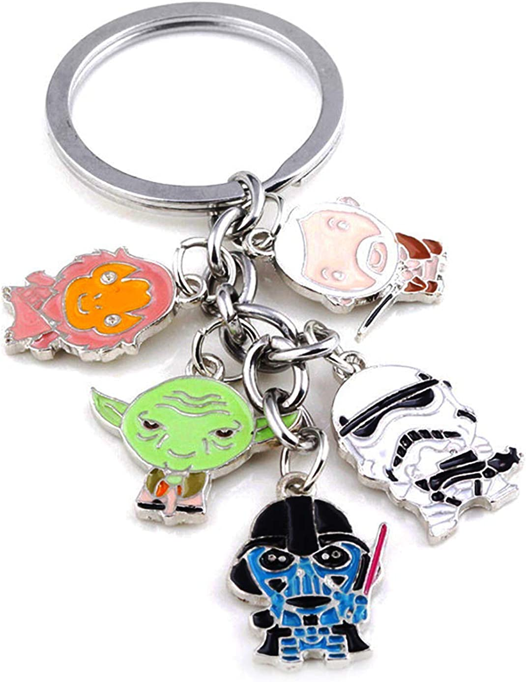 Monai Charm Pendant Star Wars Keychain Millenium Falcon Force Awakens BB-8 Keyloops