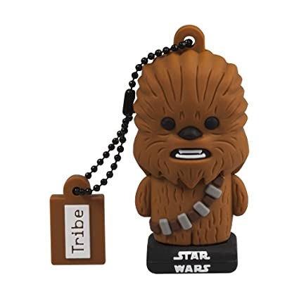 Llave USB 16 GB Chewbacca TLJ - Memoria Flash Drive 2.0 Original Star Wars, Tribe FD030520