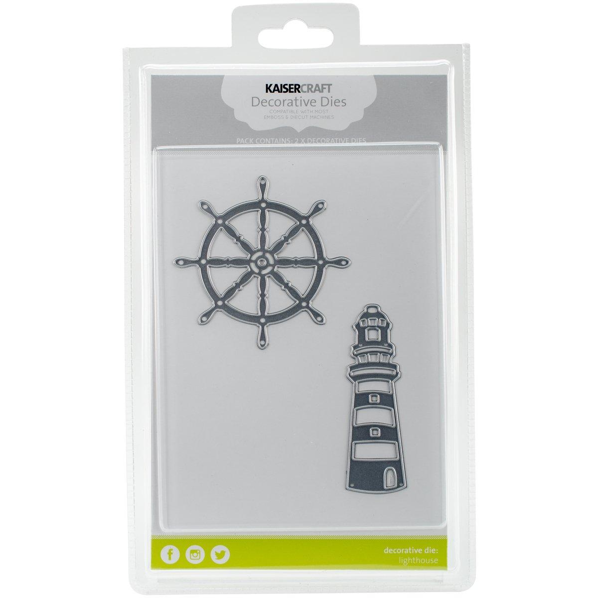 Kaisercraft Dies-Lighthouse & Ships Wheel 3.5x1 by Kaisercraft B018DDG0VS