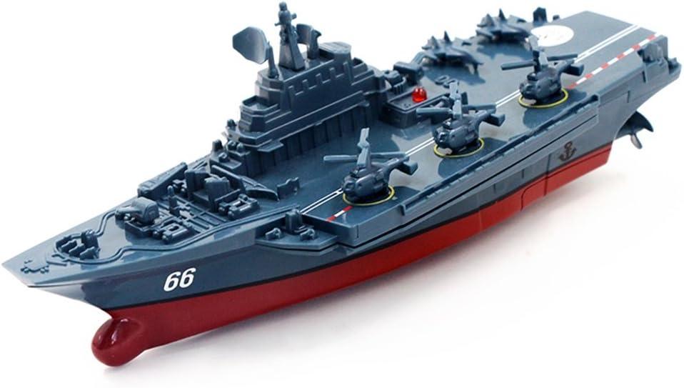 ACHICOO 2.4G mando a distancia Militar Barco de Guerra Modelo eléctrico Juguete resistente al agua Mini Portaviones/Coastal Escort Regalo para Niños Gag-Geschenke para niños