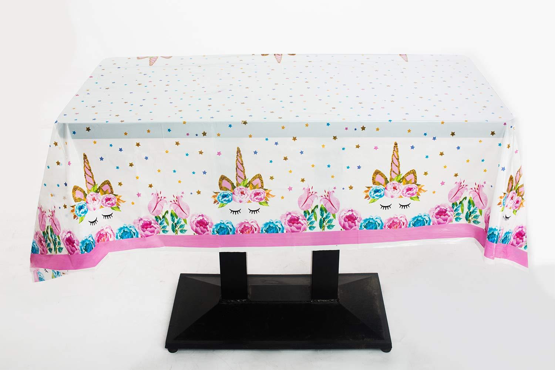 Amazon.com: Mantel de plástico de unicornio desechable para ...