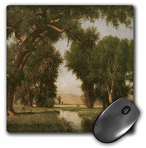 3dRose BLN American West Fine Art Collection - On the Cache la Poudre River Colorado by Thomas Worthington Whittredge - MousePad (mp_126743_1)