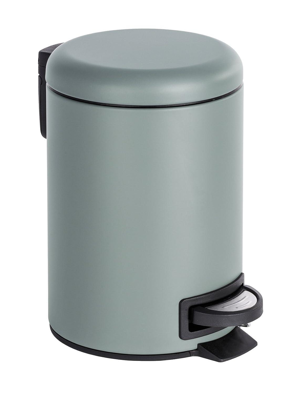 Wenko Leman Cubo con Pedal para Cosm/ética 3 L 22.5x17x25 cm Azul Acero