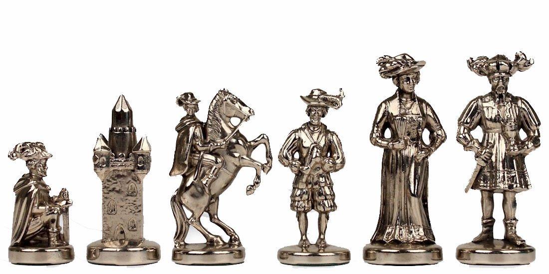 最安値 Knightsチェスセット – – 真鍮&ニッケル – – Middle Age – チェスセットパッケージ Middle – ブラウンボード B01N3AUOGF, COCOJOA:c7f13883 --- cygne.mdxdemo.com