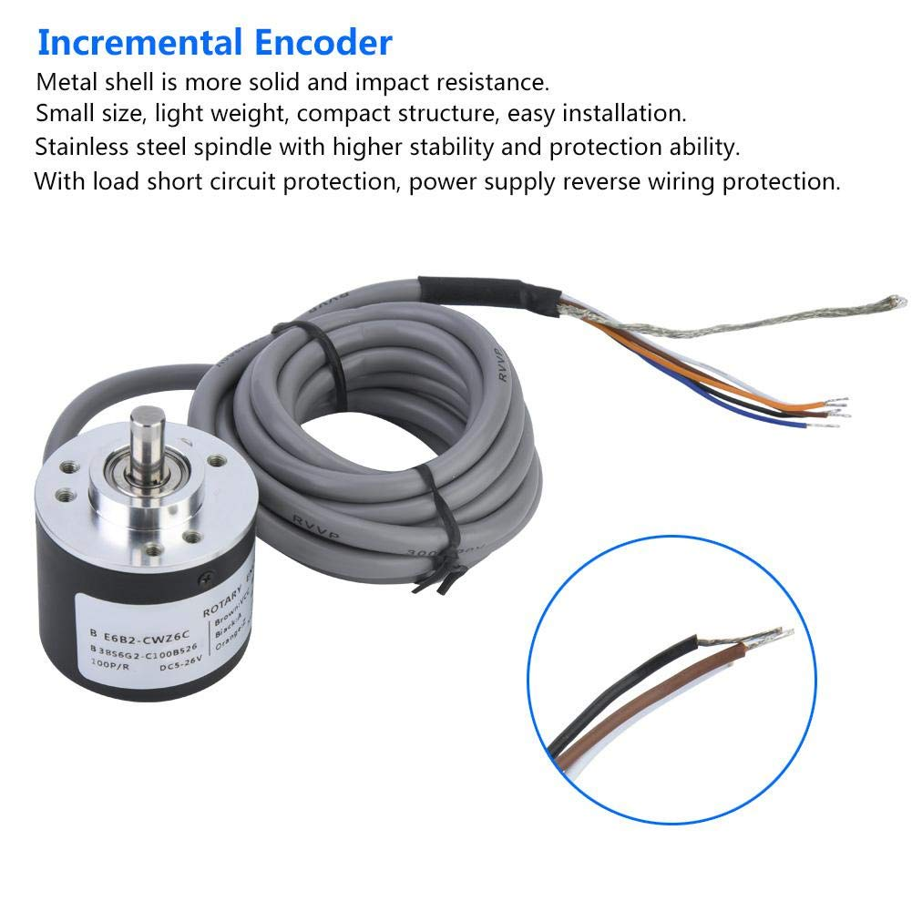 E6B2-CWZ6C Incremental Rotary Encoder General-Purpose Encoder 38mm Diameter 3600P//R