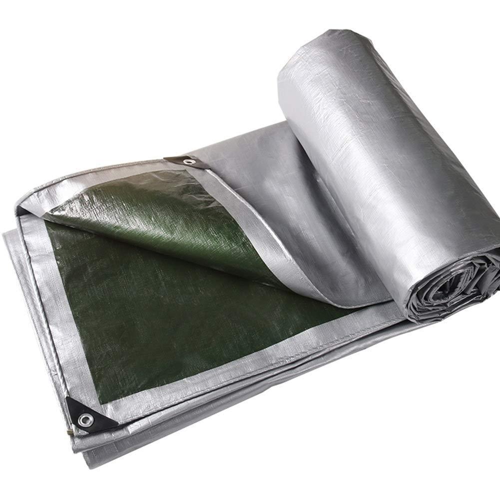 YHUJH Wasserdichte Plane Sonnencreme Isolation Schatten Outdoor Kunststoff Plane, Silber (Größe   6  6cm)