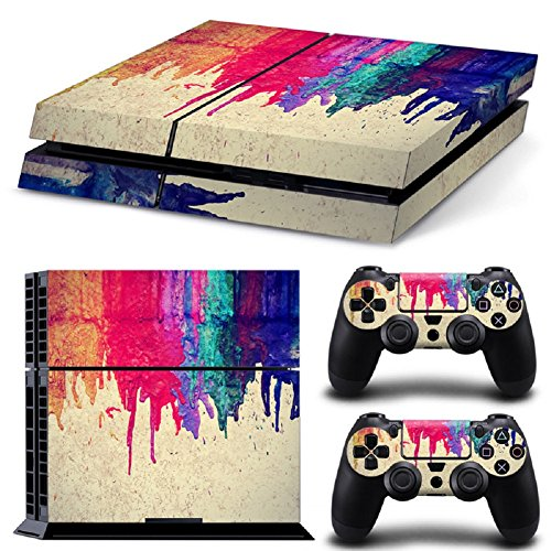 MATTAY PS4 Whole Body Vinyl Skin Sticker Decal Cover for Playstation 4 System Console and Controllers - Colorful Graffiti