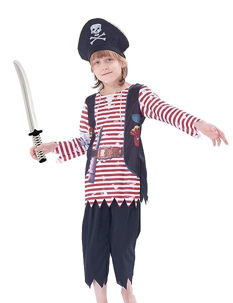 IKALI - Conjunto de Disfraz de Pirata para niños, diseño de ...